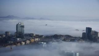 Fotoğraf bugün Türkiye'de çekildi! Bir kentimiz bulutların üstünde
